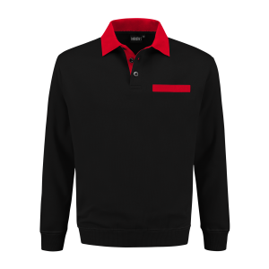 PSW 300 Polosweater zwart-rood
