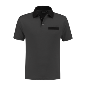 PS 200 Polo-shirt antraciet-zwart